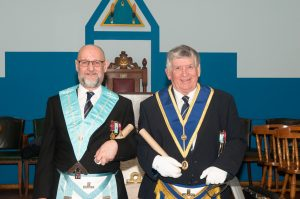 Lodge of St.Molios 774 in the Province of Argyle and the Isles confer Honorary Membership to W.Bro.Colin S. Manning and W.Bro. Archie Reynolds 22 February 2016.